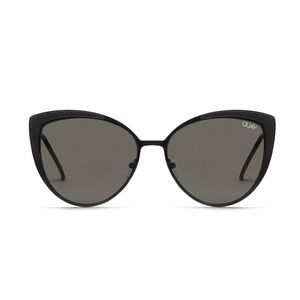 🔥NEW! QUAY Sweet Darlin Cat Eye Sunglasses Black